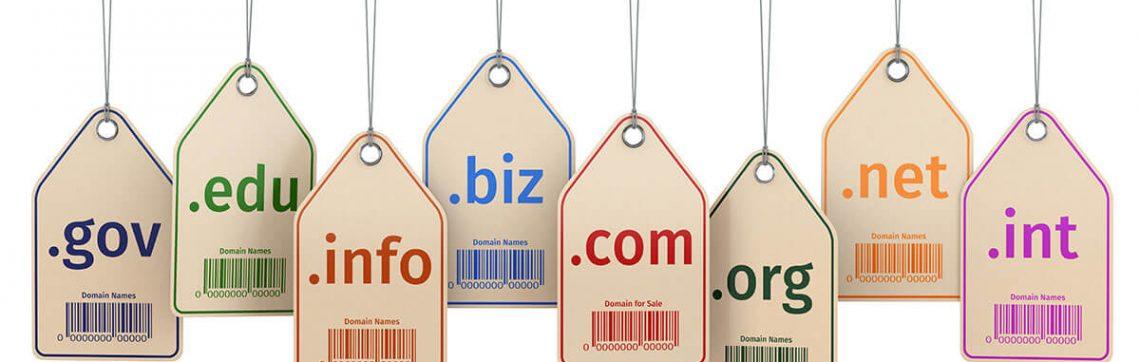 Les différents types de noms de domaine